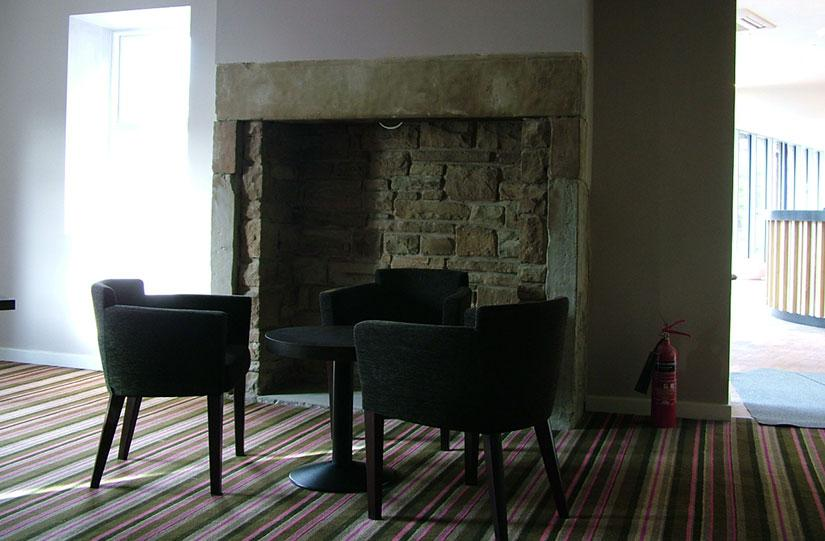 lancashire Manor Hotel fireplace